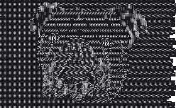 handmade ascii illustration of a dog - ascii art